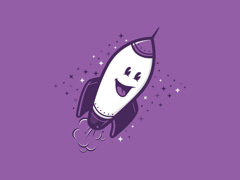 Successful Launch! stars space vector character science rocket illustration startup launch