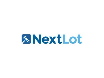 Nextlot Logo Redesign mallet gavel steele ian logo branding auction