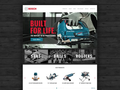 Bosch Website Redesign