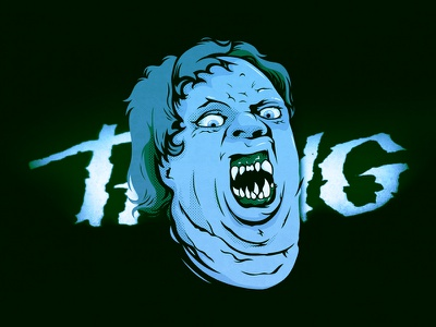 Day 6: The Thing classic cult horror vector illustration inktober carpenter john thing the