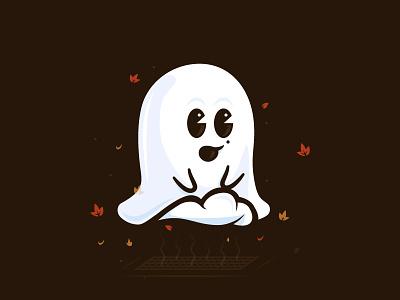 Marilyn Mon-Ghoul inktober vector illustration character ghost monroe marilyn halloween