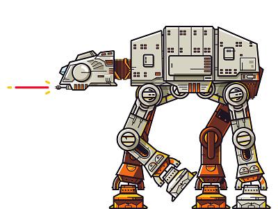 Happy Star Wars Day! design steele fanart ian scifi illustration vector at-at wars star