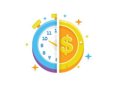 Time Is Money time is money coin time money clock vector illustration