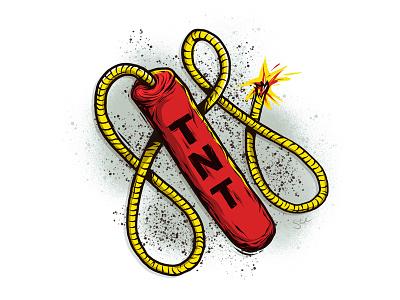 TNT adonit linework apparel tnt dynamite illustration procreate ipad