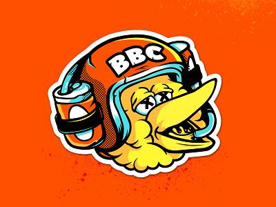Big Bird Crew Stickers helmet beer street sesame bird big biking mountain