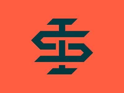 Personal Monogram lines thick letter logomark logo personal steele ian monogram