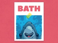 JAWS bath poster