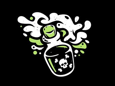 Poison science bottle october halloween illustration vector poisonous poison inktober vectober