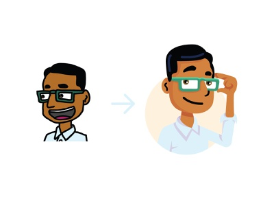Character update learning education edtech learnzillion character portrait people person illustration character design