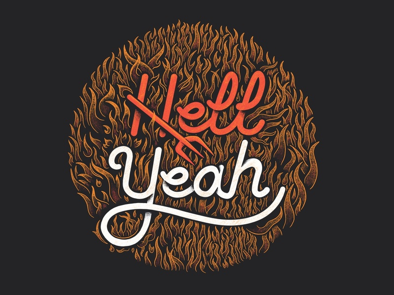Hell Yeah! ipadpro illustration devil hell fire procreate lettering lettering procreate