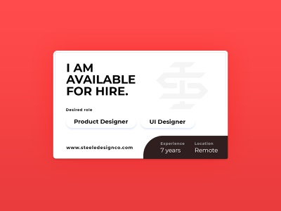 I am available for hire designer job hunt available for hire hire job search ui designer product designer