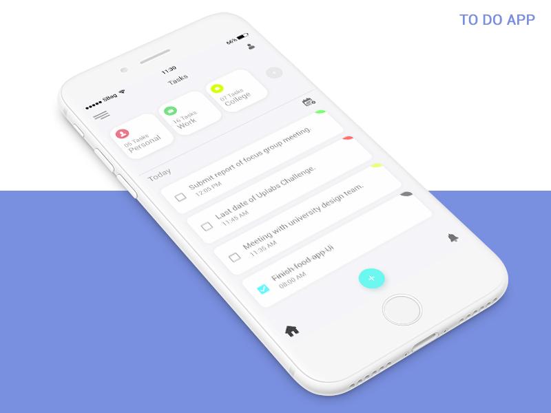 To Do App Concept app trending minimal ui dribbble utility calendar planner ios todo