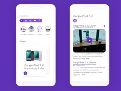 Google Pixel 2 XL - Browser concept