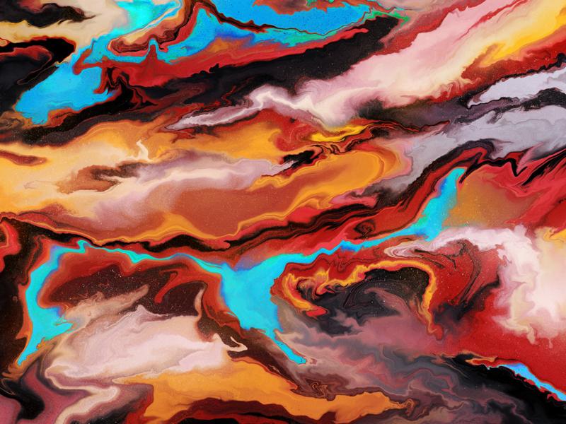 Digital Marbling procreate paint acrylic colors digital marbling