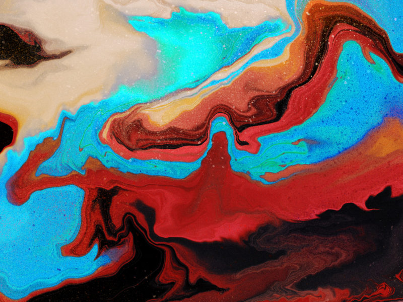 Digital Marling - Detail View 1 abstract colors textures details procreate lettering