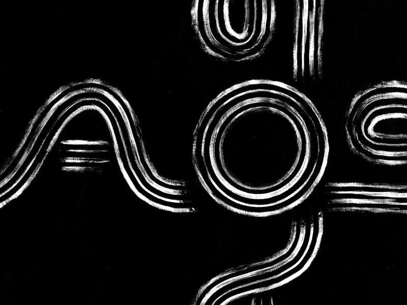 Caos textures procreate details lettering