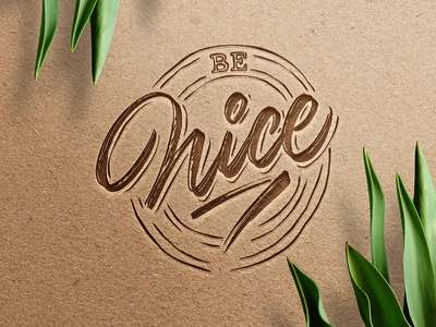 Be Nice calligraphy textures details procreate lettering
