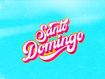 SANTO DOMINGO Dribbble copy details colors calligraphy textures adobe fresco procreate music santo domingo lettering artist lettering art cover lettering
