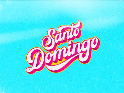 Santo Domingo details colors calligraphy textures adobe fresco procreate music santo domingo lettering artist lettering art cover lettering