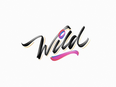 Wild textures calligraphy procreate details lettering wild