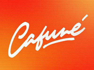 Cafuné fresco procreate letters logo letter lettering art oil lettering cafune