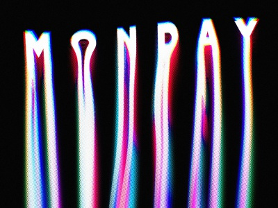 MONDAYY!!!!!! mondays haltones chromatic aberration textures details procreate lettering drips