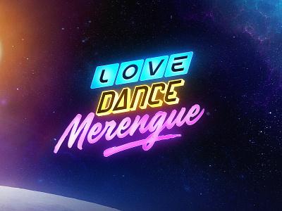 Love Dance Merengue details procreate lettering merengue