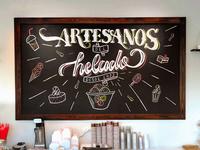 Artesanos del helado - Lettering chalkwall