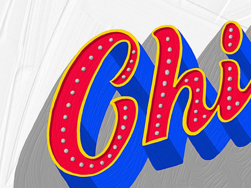 Chilea - Details textures details adobefresco lettering