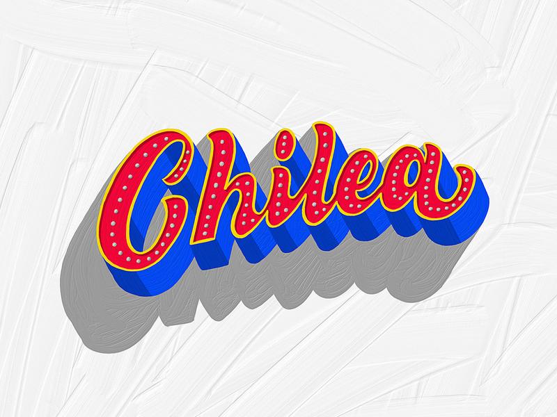 Chilea colors textures details adobefresco lettering