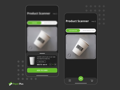Mobile App - Paperplus scan product interface design
