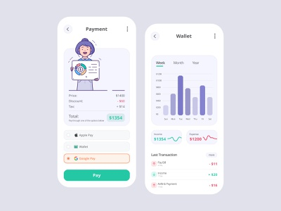 Payment Application and Wallet product ui userinterface ui trend minimal uidesign diagram payment pay interface design