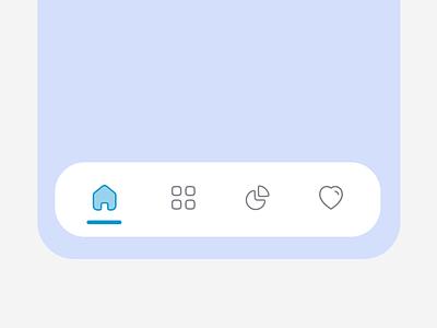 Bottom Navigation micro interaction icon app tab interface minimal motion graphics motion ae design illustration ui trend ui uidesign microinterinteraction tabbar animation