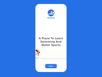 Swimming Application motion ae interactiondesign interaction swimming design interface minimal product uidesign ui trend splash ui graphic design motion graphics animation