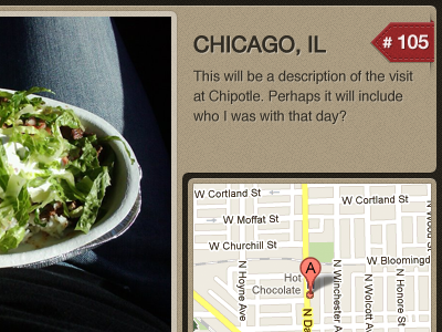 I love chipotle details page