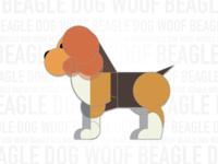 Beagle Woof Dog geometric flat minimal ui ux kouroupakis michail dog woof beagle