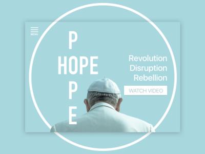 Pope Hope Landing Page minimal aesthetic ui ux kouroupakis michail website landing hope pope movie