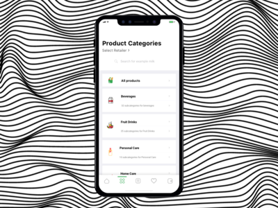 Product Categories kouroupakis michail minimal clean aesthetic elegant ui ux subcatergory groceries product categories