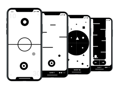 Notch Games Iphone X kouroupakis michail minimal aesthetic white black ui ux game iphone notch