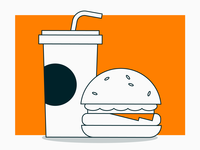 Money for nothing #3 soda drink fast food food burger hamburger