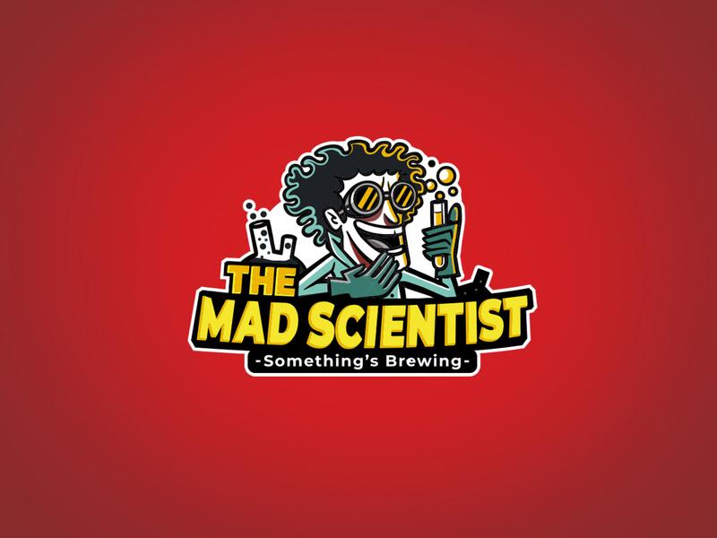 The Mad Scientist citypub satishgangaiah boomblastdesign beer bar mascotlogo resturent brewery logo bangalore branding design pub brewery mad scientist
