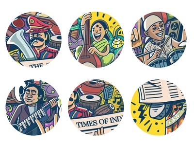 chennai chance illa campaign dribbble vector art illustration art artwork india ad festival channai campaign illustrator music timesofindia