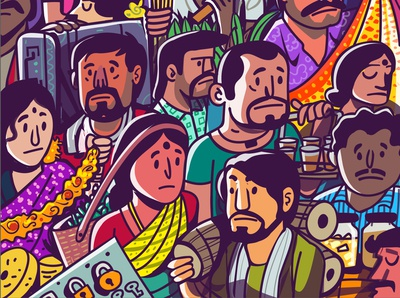 working-class hero - part 2 poster india vector branding stickers design emoji satishgangaiah illustration mascot
