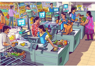 supermarket graphic design vector illustration supermarket groceries