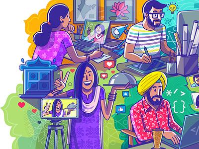 Entrepreneur of India - part1 satishgangaiah illustration branding graphic design