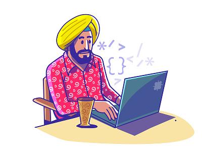 Entrepreneur of India - Developer design indian illustration satishgangaiah sa branding logo graphic design developer