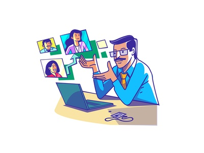 Entrepreneur of India - Sales Team vector expression india branding logo indian illustration satishgangaiah graphic design