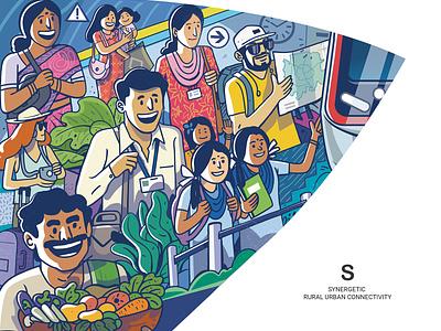 K RIDE : S M A R T - S ui indian design india expression illustration satishgangaiah vector pr motion graphics logo branding graphic design