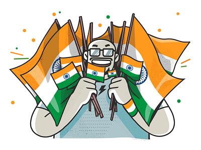 independence day vibes ui indian branding illustration vector design boomblastdesign satishgangaiah sa vibes independence day india