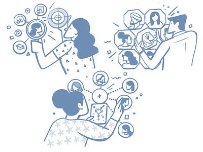 Illustration for ui branding design satishgangaiah vector illustration visual-design graphic design ui
